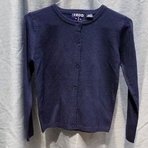 NEW IZOD GIRLS Blue Sweater MED 10/12